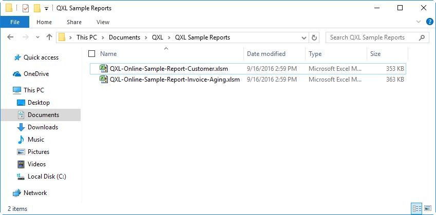 qxl-qodbc-online-report-list